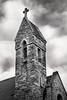 B&W Steeple of Church 3-0 F LR 11-12-17 J167 (sunspotimages) Tags: churchsteeple church cathedral steeple blackandwhite bw monochrome southmountain religion religous places holy