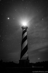 Hatteras B&W (Go See Do Photos) Tags: capehatterasnationalseashore hatteraslight nationalseashore northcarolina outerbanks darksky history lighthouse milkyway night nightsky sky stars