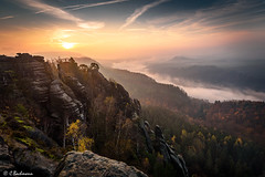 The beauty of Saxon Switzerland (bachmann_chr) Tags: fall autumn herbst sächsische schweiz schrammsteine deutschland landschaft landscape germany sightseeing nikon d750 nationalpark national park switzerland saxon bad schandau sunrise sonnenaufgang