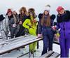 odri silver grey yellow blue and purple suits (skisuitguy) Tags: skisuit snowsuit ski snow suit skiing skifashion skiwear skibunny onepieceskisuit onepiecesuit onesie
