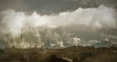 Steel Works Port Talbot (howell.davies) Tags: steel works tata port talbot uk nikon d3200 55200mm rain mist steam cloud clouds weather m4 motorway industry industrial landscape