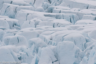 A glacier's face