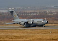 "U.S. Air Force C-17 takes off from Osan Air Base, ROK, during Exercise Vigilant Ace (#PACOM) Tags: osanairbase gyeonggido republicofkorea uspacificcommand ""pacom"