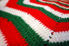Christmas Colors. (dccradio) Tags: lumberton nc northcarolina robesoncounty rememberingmom yarn christmas holiday red white green craft handcrafted crochet crocheted missingmom christmastime nikon d40 dslr inside indoors