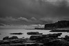 Auchmithie Harbor (EricHarden) Tags: auchmithie scotland nikon 18200mm nikkor bw blackwhite black white seascape sea rocks cliffs sky clouds d7100 angus