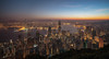 Hong Kong Sunrise (reinaroundtheglobe) Tags: hongkong china asia cityscape skyline urbanlandscape urbanskyline urban buildings offices water waterfront morning sunrise clearsky nopeople panorama thepeak financialdistrict city