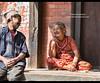 Portrait of joy, old friends laughing, Bhaktapur, Nepal (jitenshaman) Tags: travel destinations worldlocations asia asian nepal nepali kathmandu tradition traditional dashain dasain bhaktapur joy happy happiness joyful funny laugh enjoy friends friend friendship topi oldwoman grandmother grandma sari oldfriends joke joking