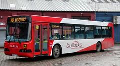 Bullocks Coaches HXZ 9780 at Demmings Industrial Estate, Cheadle. (Gobbiner) Tags: b10ble wright bullockscoaches w108ewu arrivayorkshire 3618 linknetwork volvo hxz9780 cheadle 108 mdtravel arrivamidlands