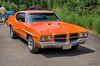 1972 Pontiac Lemans (kenmojr) Tags: 2017 antique atlanticnationals auto car classic moncton newbrunswick show vehicle vintage centennialpark kenmo kenmorris carshow nikon d7000 nikkor 18105 1972 pontiac lemans orange musclecar
