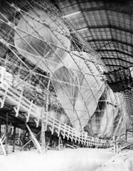 henry cord meyer image (San Diego Air & Space Museum Archives) Tags: schüttelanz airship construction sl1 ballonets