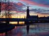 P1211025_DxO (Wicked Ricky) Tags: sunset twilight stockholm city bridge train sweden travel nightfall europe nordic sky river tree olympus penf 火燒雲 瑞典 斯德哥爾摩 日落 夕陽 暮色 市政廳