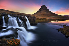 Good morning Kirkjufell (FredConcha) Tags: kirkjufell iceland landscape nature waterfall sunrise fredconcha lee nikon d800 river colors longexposure rocks