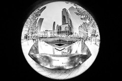 Out of tragedy rises hope (Simon.Davison.Photography) Tags: newyork wtc worldtradecentre memorialpools oneworldtradecentre worldtradecenter oneworldtradecenter america usa blackandwhite canon canon6d 6d canon815mm fisheye 815mmfisheye canonfisheye