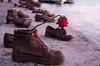 The Shoes on the Danube Bank (jperthllave) Tags: arrowcrossparty theshoesonthedanubebank shoes memorial fascist fascistregime danuberiver budapest hungary dusk war socialist murder jewishmemorial hungarian pentax smcpfa28105mmf3245al jew memory