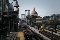 (onesevenone) Tags: onesevenone stefangeorgi newyork newyorkcity city nyc ny america unitedstates eastcoast urban gothamist peterluger williamsburg williamsburgbridge marcy marcyave marcyav marcyavenue mta subway track traintrack patform