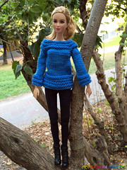 Handmade Barbie doll clothes. Knitted Blue Sweater for Barbie girls (uliakiev) Tags: barbie barbiedoll barbiedollclothes barbieclothes barbiesweater barbiecollector barbiecollection barbiefan barbiefashion barbieclothing barbiedolls barbieshop barbiestyle barbiestream barbiecrochet barbieknit dollclothes dollsweater dollknitting