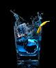 splash photography of blue gin photo by brian kaldorf (Brian Kaldorf Photography) Tags: gin splash lemon pour alcohol beverage drink shotglass briankaldorf