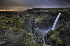 Haifoss waterfall - Iceland (theinksurgeon) Tags: haifoss waterfall iceland sunset clouds landscape mountain gorge volcanic water canon5dsr kase filters