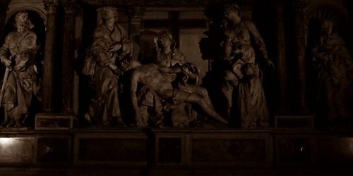 18 - Reims - Cathédrale Notre-Dame - Reims - Cathédrale Notre-Dame - Autel-retable des Apôtres - Détail, Descente de croix