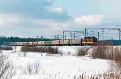 ЧС4Т-731 (logica.bs) Tags: чс4т731 поезд электровоз локомотив сев сжд транссиб пназырево станция