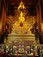 Thai Buddha (FotoGrazio) Tags: asian bangkok buddha buddhism buddhist goldenbuddha statue thai thailand waynegrazio waynesgrazio belief composition detail faith fineart fotograzio gold golden lotusposition meditation nirvana ornate religion religiousrelic sacred temple tourism