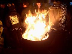 Lit (juanazuero1) Tags: backyard winter warmth punk losangeles street bonfire fire
