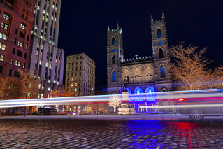 Passing Traffic & Cobblestones of Montreal's Place d'Armes