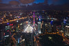 Night view from the Pudong district in Shanghai 上海 (leonardrodriguez) Tags: shanghai china cina chine buildings night cityscape skyscraper city architecture pudong world financial center