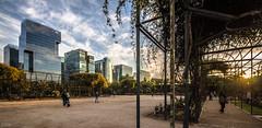 Sunset Urbano (Cruz-Monsalves) Tags: santiago stgo scl chile sunset edificios atardecer buildings ciudad city urbano urban parque park