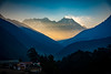 Early morning haze surrounding everest turned golden by the rising sun rays (CamelKW) Tags: 2016 everestpanoram nepal early morning haze surrounding everest goldenrising sun rays