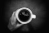 Black Coffee 77.365 (ewitsoe) Tags: coffee black refelction hand cup drink monochrome bnw blackandwhite morning 365 project overview top canon sigma 20mm stree thome urban thoughts