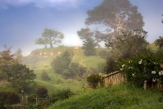 New Zealand -The Shire's mist (Hobbiton)