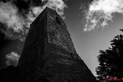 Muthill Tower (red.richard) Tags: tower bw monochrome churchyard ruin muthill scotland