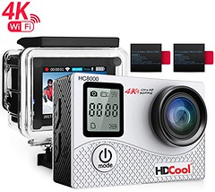 HDCool HC8000 4K Action Camera 16MP FHD 1080P Wifi Waterproof Sports Camera 2.0 Inch LCD Display, 170° Ultra Wide-Angle Lens, Include 2 Rechargeable 1050 mAh Batteries (belokitech) Tags: 1050 1080p 16mp 170° action batteries camera display hc8000 hdcool inch include lens rechargeable sports ultra waterproof wideangle wifi