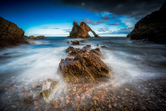 Another Day (Augmented Reality Images (Getty Contributor)) Tags: portknockie bowfiddlerock coastline landscape leefilters longexposure scotland water waves colours morayfirth canon seascape clouds rocks unitedkingdom gb