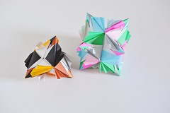 Lycaonia Kusudamas (Byriah Loper) (Byriah Loper) Tags: origami modularorigami modular byriahloper byriah paperfolding paper polygon polyhedron compound complex