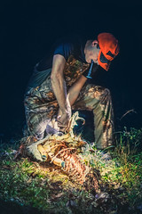 November Vibes (ashercurri) Tags: youngsville nc north carolina deer hunting night light flash flashlight bone bones skeleton game sony nex nex7 alpha