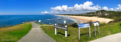 View Down Lighthouse Beach from Tacking Point Lighthouse, Port Macquarie, NSW (Black Diamond Images) Tags: view lighthousebeach tackingpointlighthouse tackingpoint portmacquarie nsw australianbeaches midnorthcoast beach northbrothermountain panorama appleiphone7plus iphone7plus appleiphone7pluspanorama iphone7pluspanorama iphonepanorama water sky beachlandscapes landscape