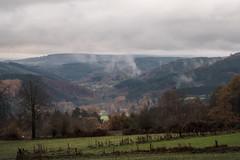 The dark clouds of the Ardennes (RIch-ART In PIXELS) Tags: chevron stoumont ardennes belgium belgique landscape grassland grass field hills hillside fog mist clouds valley leicadlux6 leica dlux6 tree forest sky