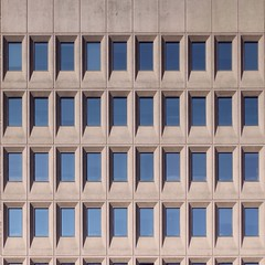 Just Windows (No Great Hurry) Tags: primelens 500mm graphic portcullis design somethingblue blue repetition pattern betonbrut constructuralart abstractarchitecture abstract justwindows windows concrete brutalist architecture architectural modernist midcentury canadian canada barrieontario robinmauricebarr nogreathurry abstrait window geometric sky symmetry lines facade wall building