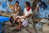Chit chat (SaumalyaGhosh.com) Tags: chitchat people kolkata colors girl india street streetphotography blue city life