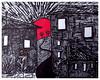The red sun by #JS12 Jacob Sibbern (©Stefano Wolf) Tags: jacobsibbern red redballoon redmoon balloonart drawing drawingart drawer disegno arte artista artist drawings sun sole rosso redsun moonart