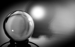 The Orb. (CWhatPhotos) Tags: cwhatphotos photographs photograph pics pictures pic picture image images foto fotos photography that have which with contain mk digital camera lens glass orb crystal ball shadow shadows black white mono monochrome cast macro close up inexplore explore