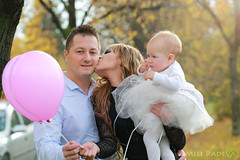 Dariya's Birthday (MiliRadeva) Tags: kid baby birthday princess happy balloons dad mom dress autumn christening