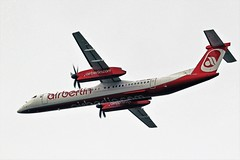 D-ABQK DASH 8 AIR BERLIN NEWCASTLE (toowoomba surfer) Tags: airline airliner aeroplane ncl egnt