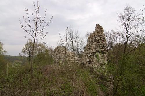 Resztki murów zamku w Bochotnicy