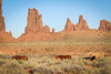 Wild horses and buttes (gorbould) Tags: 2017 monumentvalley navajotribalpark usa utah america butte buttes horse horses southwest totempole wildhorses