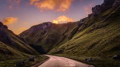 Winnats Pass Sunrise (mandysp8) Tags: derbyshire sunrise mountain hills scenery countryside rocks