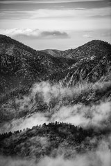 Myths/Legends (Josh Patterson Photo) Tags: angelescrest angelesnationalforest nationalforest mountains mountain clouds cloudy cloudscape sky forest trees pines alpine hiking hike california southerncalifornia socal losangeles monochrome blackandwhite