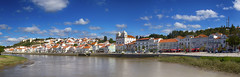 Alcácer do Sal Panorama (MrBlueSky*) Tags: alcácerdosal sado town river water view panorama sky clouds blue alentejo portugal travel canon canoneos canonm6